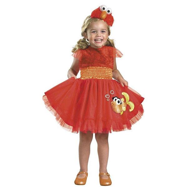セサミストリート コスプレ エルモ 幼児 子供 ドレス コスチューム 衣装
