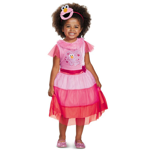 セサミストリート コスプレ ピンク エルモ 幼児 子供 ドレス コスチューム 衣装