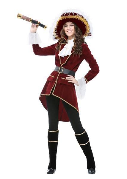 ピーターパン フック船長 女性 大人 コスチューム 衣装 ハロウィン コスプレ