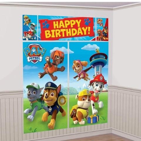 パウパトロール グッズ ポスター パーティー 壁 飾り 壁紙 デコレーション