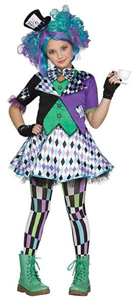 マッドハッター コスプレ 子供 コスチューム 衣装 ハロウィン パープル 帽子屋 イベント パーティー アリス