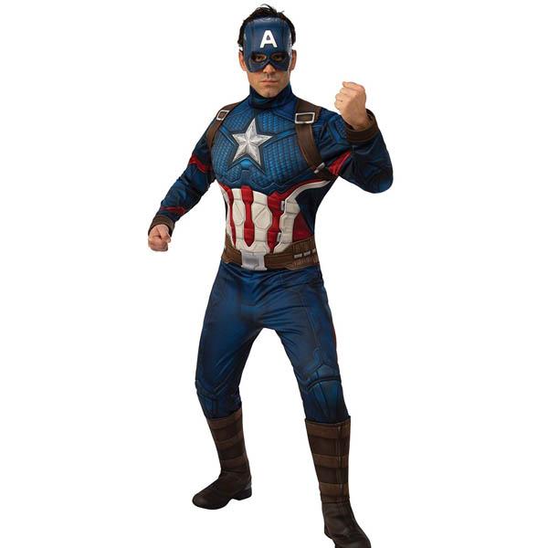 キャプテンアメリカ コスプレ デラックス 大人 コスチューム アベンジャーズ 衣装