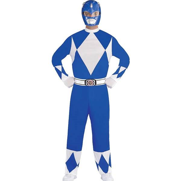 パワーレンジャー コスプレ マイティモーフィン ブルー レンジャー 大人 コスチューム グループ 衣装