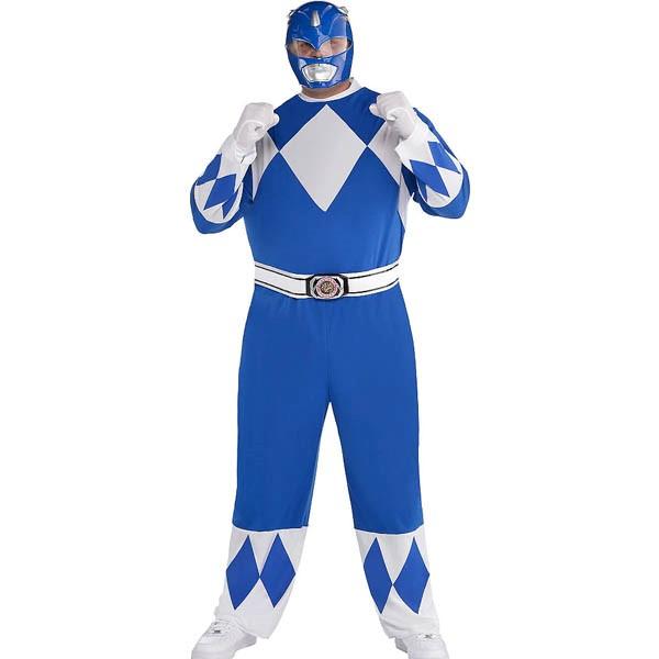 パワーレンジャー コスプレ マイティモーフィン ブルー レンジャー 大人 プラスサイズ コスチューム グループ 大きいサイズ 衣装