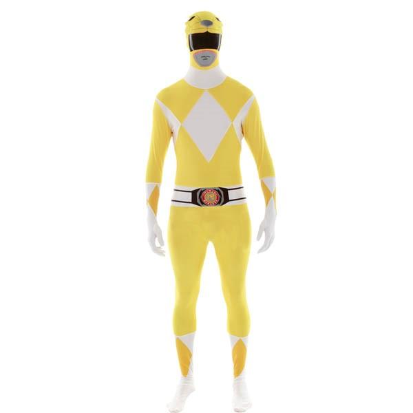 パワーレンジャー コスプレ 全身タイツ イエロー レンジャー 大人 コスチューム グループ 衣装