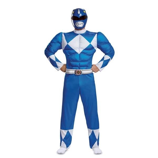 パワーレンジャー コスプレ ブルー レンジャー 大人 マッスル コスチューム グループ 衣装