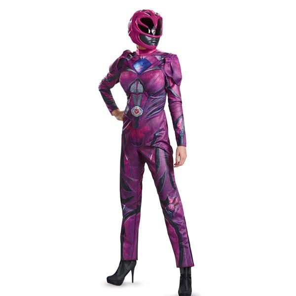 パワーレンジャー ムービー コスプレ ピンク レンジャー 大人 レディース デラックス コスチューム グループ 衣装