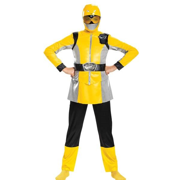 パワーレンジャー コスプレ ビーストモーファーズ イエロー レンジャー 子供 ガールズ デラックス コスチューム グループ 衣装