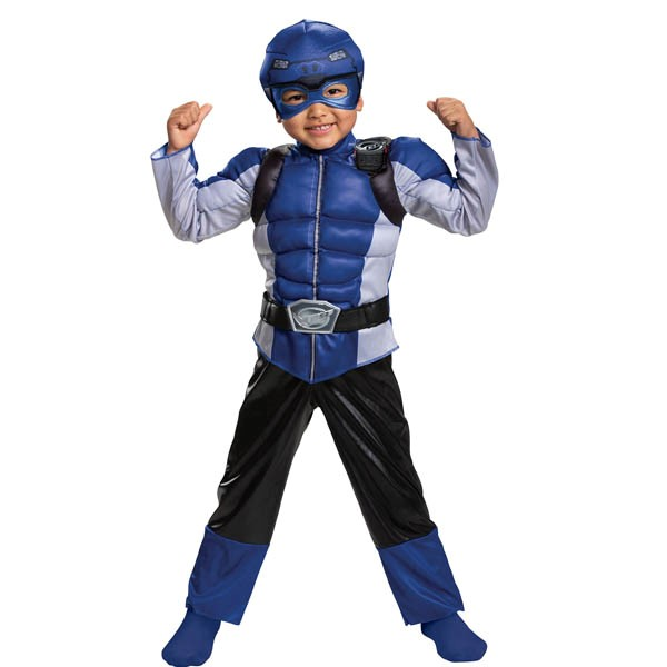パワーレンジャー コスプレ ビーストモーファーズ ブルー レンジャー 子供 キッズ コスチューム グループ 衣装