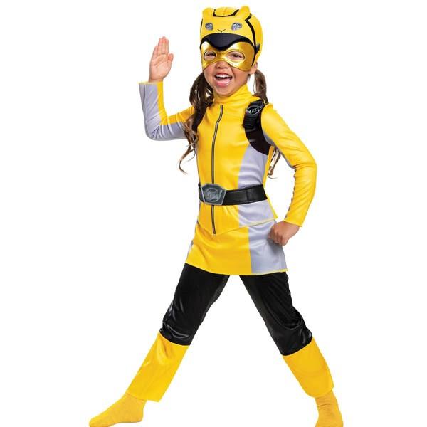 パワーレンジャー コスプレ ビーストモーファーズ イエロー レンジャー 子供 ガールズ クラシック コスチューム グループ 衣装