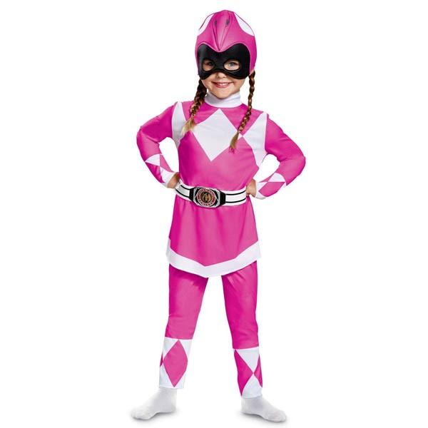 パワーレンジャー コスプレ マイティモーフィン ピンクパワーレンジャー 幼児 クラシック コスチューム 衣装