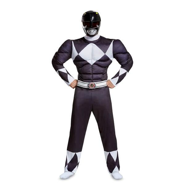 パワーレンジャー コスプレ ブラック レンジャー 大人 マッスル コスチューム グループ 衣装