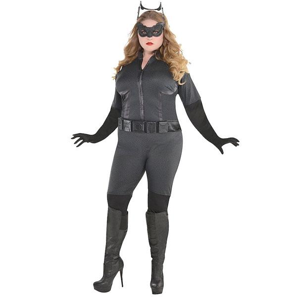 キャットウーマン コスプレ 大人 プラスサイズ コスチューム ダークナイト ライジング バットマン ハロウィン 大きいサイズ 衣装 仮装