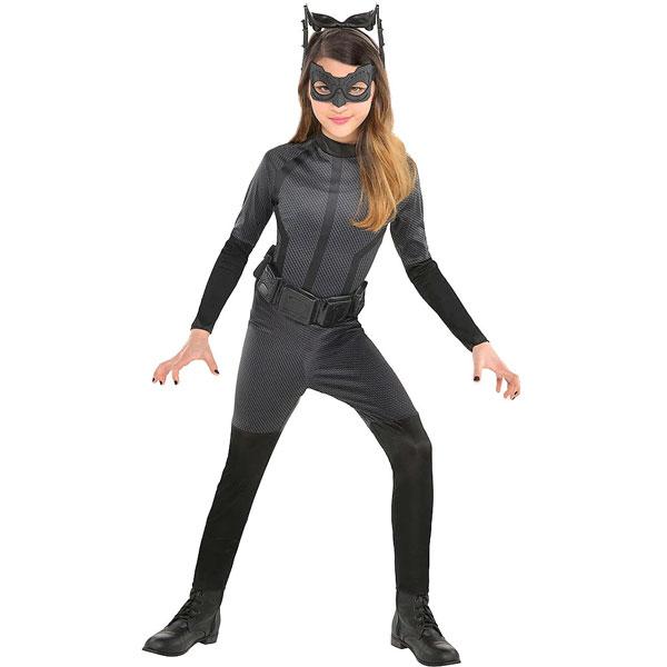 キャットウーマン コスプレ 子供 コスチューム ダークナイト ライジング バットマン ハロウィン ガールズ 衣装 仮装