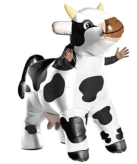 おもしろ コスチューム モーモー 牛 膨らむ 大人 ウシ コスプレ ハロウィン イベント 動物 衣装 仮装