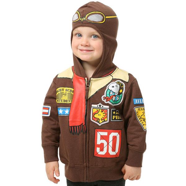 スヌーピー 幼児 子供 ボーイズ ボンバー ジャケット フード付き スウェット シャツ コスチューム ピーナッツ