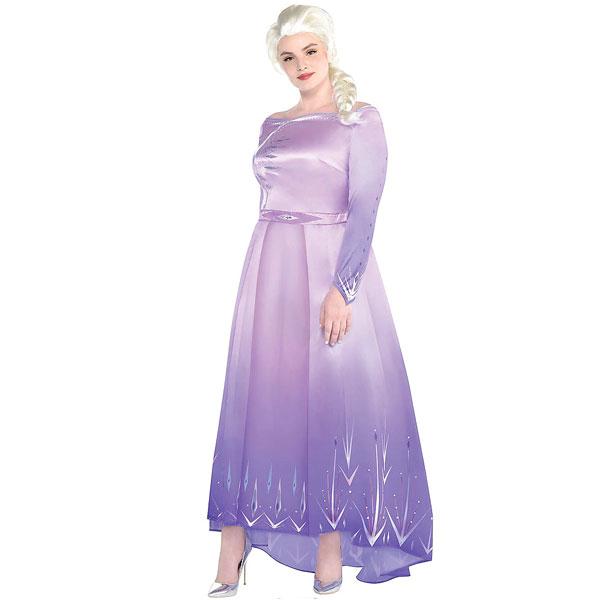 アナと雪の女王2 エルサ コスプレ 大人 プラスサイズ コスチューム ハロウィン 大きいサイズ 衣装 ディズニー 仮装