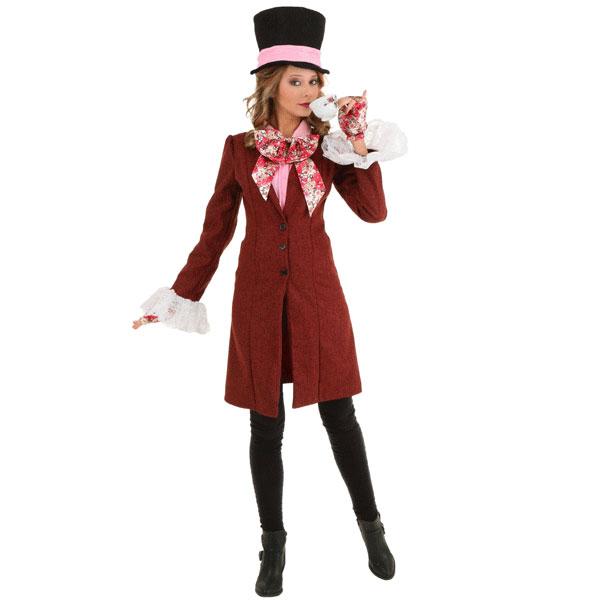 マッドハッター デラックス 大人 レディース コスチューム ハロウィン コスプレ イベント 衣装 仮装 アリス