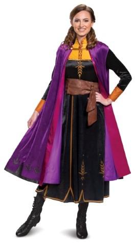 アナと雪の女王 アナ雪 2 アナ ドレス 大人 コスチューム 衣装 コスプレ ディズニー公式