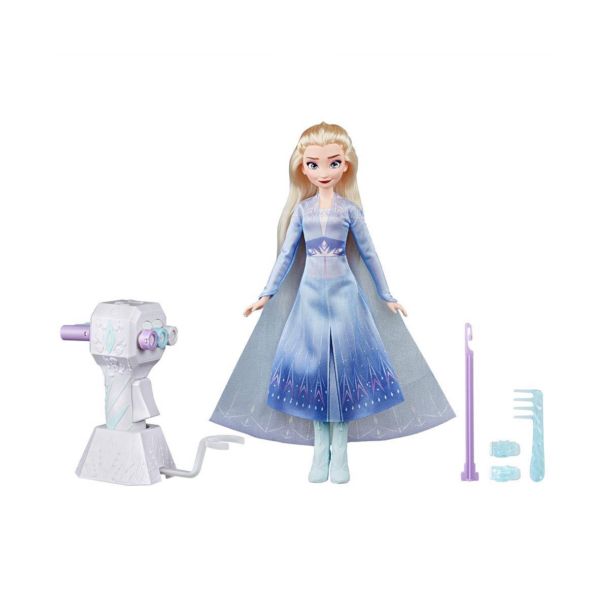 アナと雪の女王 グッズ ディズニー 人形 エルサ ファッション ドール オートヘア編みツール