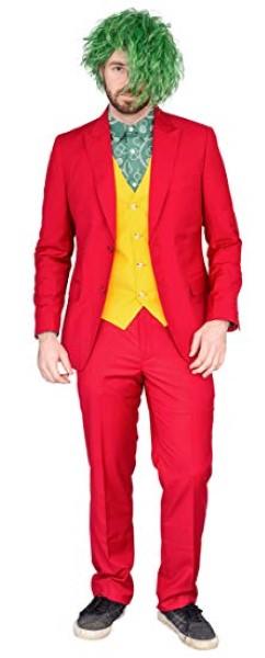 ジョーカー コスプレ 大人 赤 コスチューム サイコ ピエロ 仮装 ハロウィン 衣装