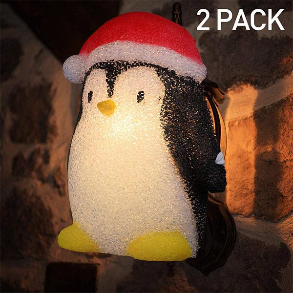 クリスマス 装飾 ランタン 飾り デコレーション ペンギン ポーチライトカバー 玄関 インテリア