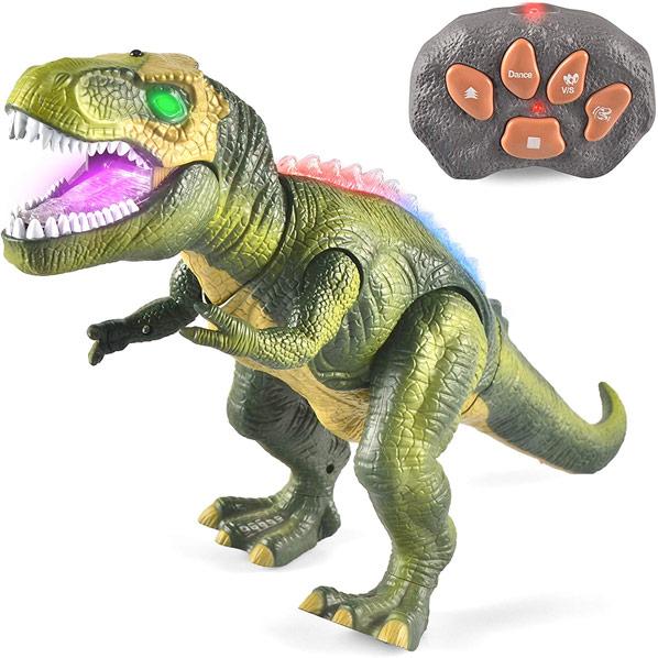 恐竜 おもちゃ 動く リアル LEDライトアップ リモートコントロール ダイナソー 子供 ギフト プレゼント