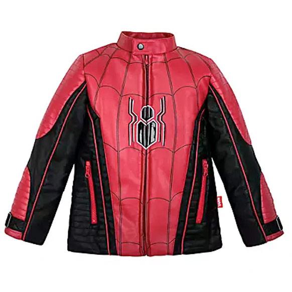 キッズ アウター 男の子 ジャケット スパイダーマン モトクロス 子供