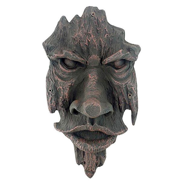 ノッティンガムウッズの精神 グリーンマンの木の彫刻 トリックアート 彫刻 ホーム インテリア エクステリア 屋外 庭 ガーデン 飾り 石像 オブジェ