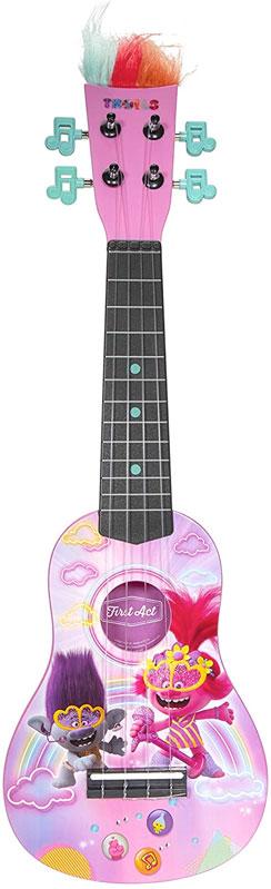 楽器 おもちゃ ウクレレ トロールズ 子供 ミニギター ピンク 8歳