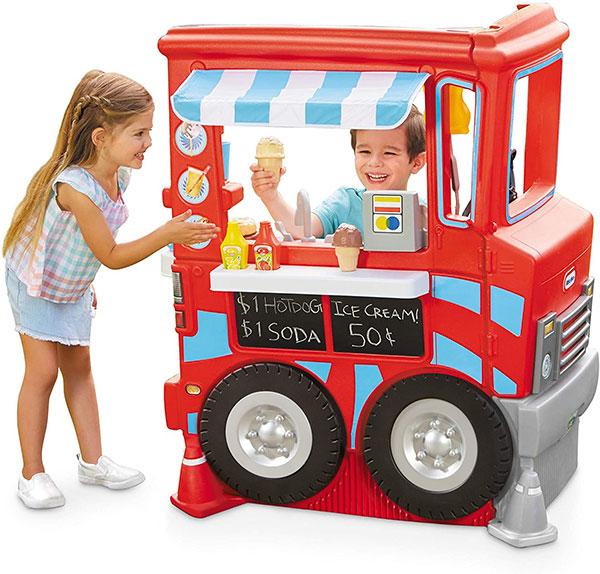 登場大人気アイテム 通常便なら送料無料 リトルタイクス ごっこ遊び キッチン 屋内外兼用 家 バースデー 記念日 ギフト 贈物 お勧め 通販 で 遊び 2イン1 子供 おもちゃ フードトラックキッチン 遊べる