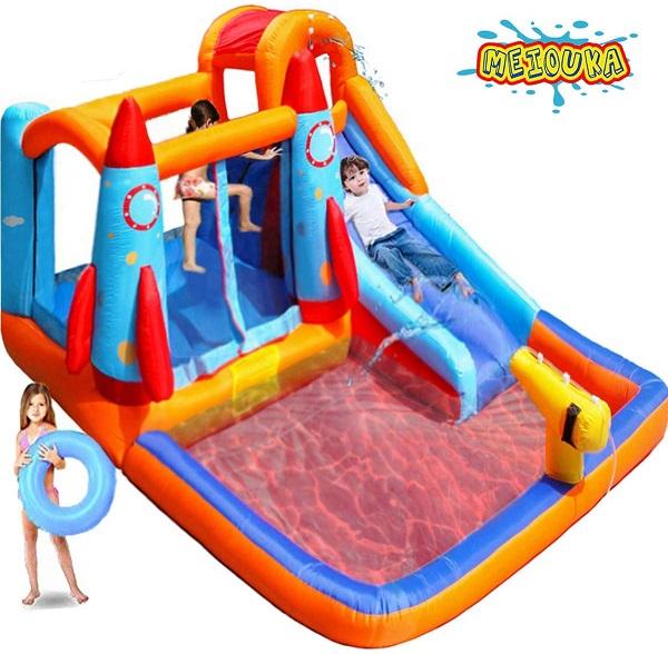 プール 家庭用 大型 インフレータブル バウンスハウスキャッスル 跳ねて 滑って 水遊び