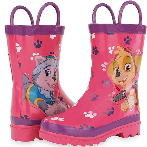 パウパトロール グッズ 長靴 子供用 雨具 レインブーツ スカイ エベレスト ピンク 通常便は送料無料
