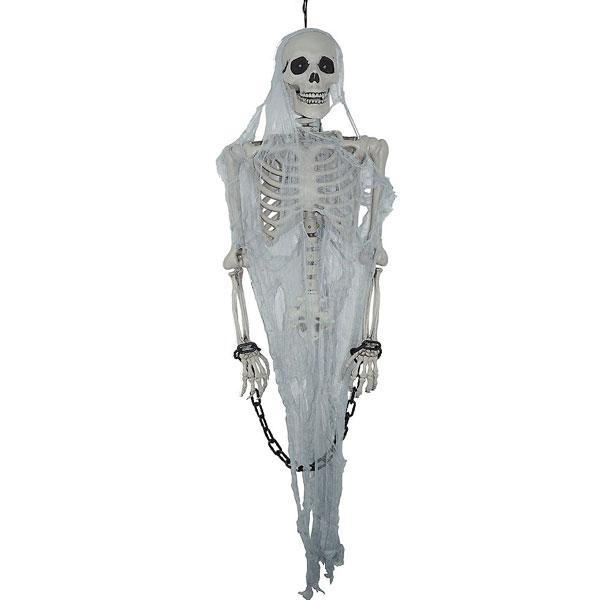ハロウィン 飾り トーキング スケルトン プリズナー 怖い 不気味 吊り飾り 飾り付け