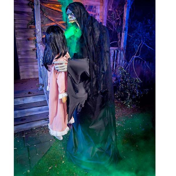ハロウィン 飾り 動く しゃべる 吸魂 鬼 怖い 不気味 人形 飾り付け 魂を吸い取る
