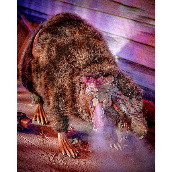 ハロウィン 飾り 動く 鳴く 異形ネズミ 怖い 巨大 ラット 不気味 飾り付け