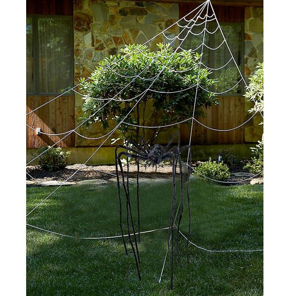 ハロウィン 飾り ジャイアントスパイダー&メガスパイダーウェブ 巨大 クモ 大きな クモの巣 怖い 不気味 飾り付け
