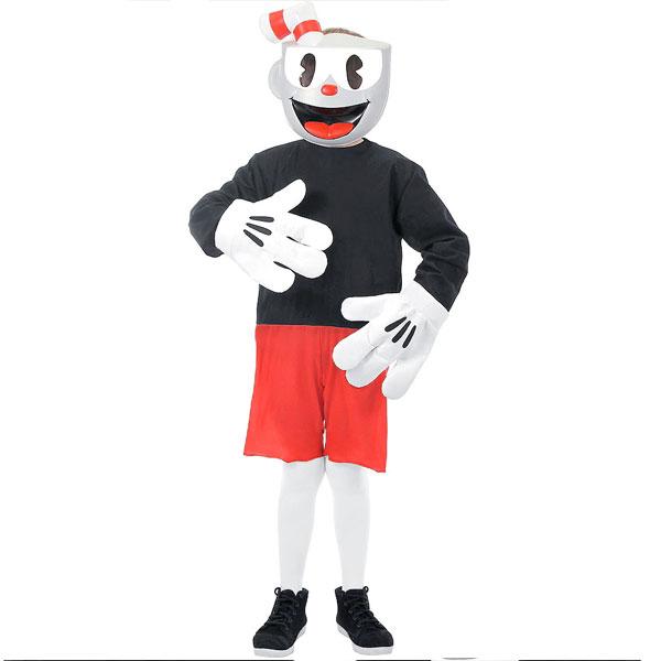 カップヘッド コスプレ 子供 キッズ コスチューム ハロウィン イベント 仮装 衣装 通常便は送料無料