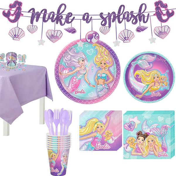バービー マーメイド パーティーセット 8人用 グッズ バースデー 女の子 誕生日会 パーティー Barbie Mermaid