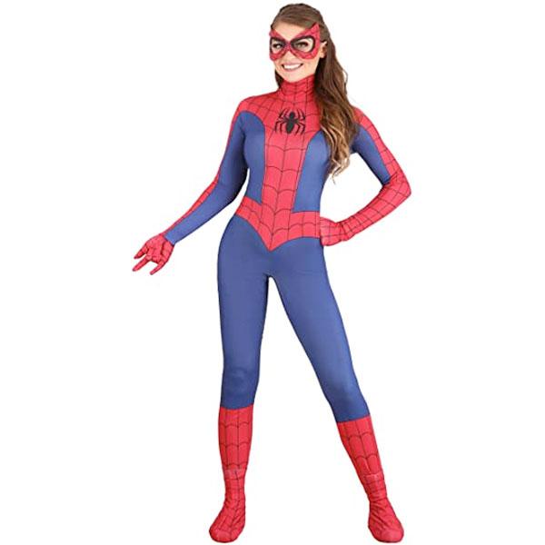 スパイダーマン 大人用 コスチューム ボディースーツ コスプレ 仮装 衣装 ハロウィン 通常便は送料無料