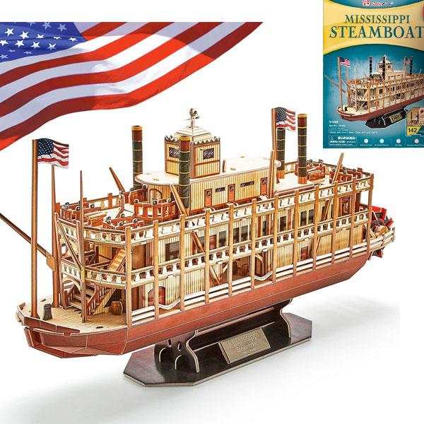 通常便なら送料無料 パズル 3D 立体 家遊び 大人 子供 家 遊び 家族 船 インテリア 通常便は送料無料 プレゼント 誕生日 クルーズ ミシシッピ 大特価 頭脳 ボート ステイホーム リバー 蔵 シップ