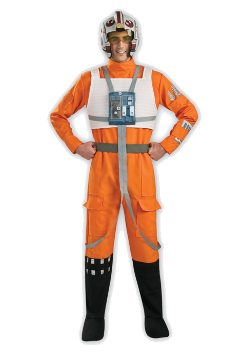 スターウォーズ コスプレ コスチューム Xウィング ルービーズ 戦闘服 パイロット服 オレンジ 大人 男性用 仮装 衣装