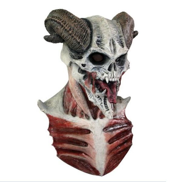 コスプレ グッズ マスク デビル ガイコツのマスク 大人用 アクセサリーキット