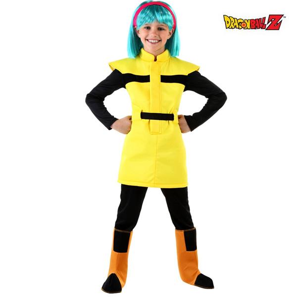 ドラゴンボール ブルマ コスプレ コスチューム 子供 女の子用 衣装 ウィッグ セット ジャンプ 漫画 アニメ キャラクター 仮装
