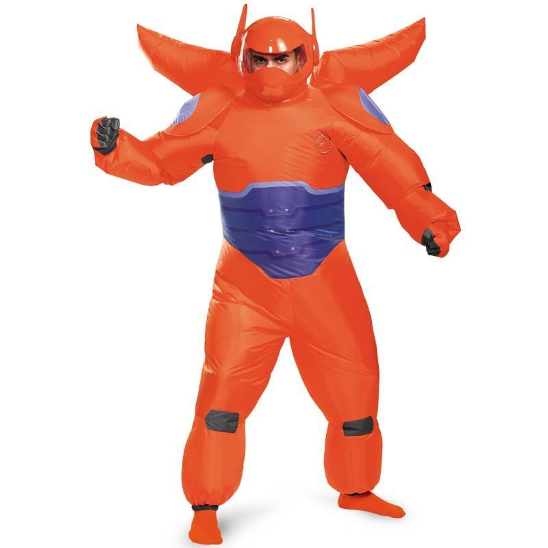 ディズニー コスチューム 大人 ベイマックス マスク付 コスプレ ヒーロー 男性 赤いベイマックスの膨らむ