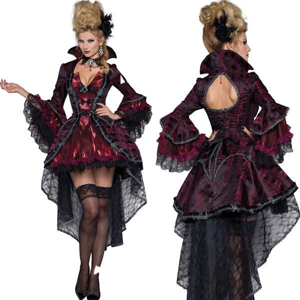 中世 仮装 ビクトリア 朝 吸血鬼 ドラキュラ 大人 女性用