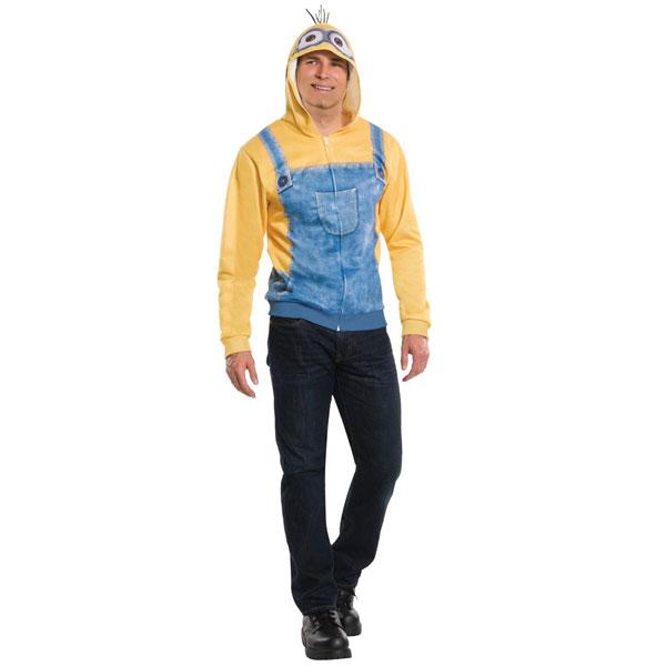 ミニオンズ フーディー フード付きスウェットシャツ パーカー 大人用 コスチューム ハロウィン コスプレ 衣装 USJ ユニバ 仮装 パレード