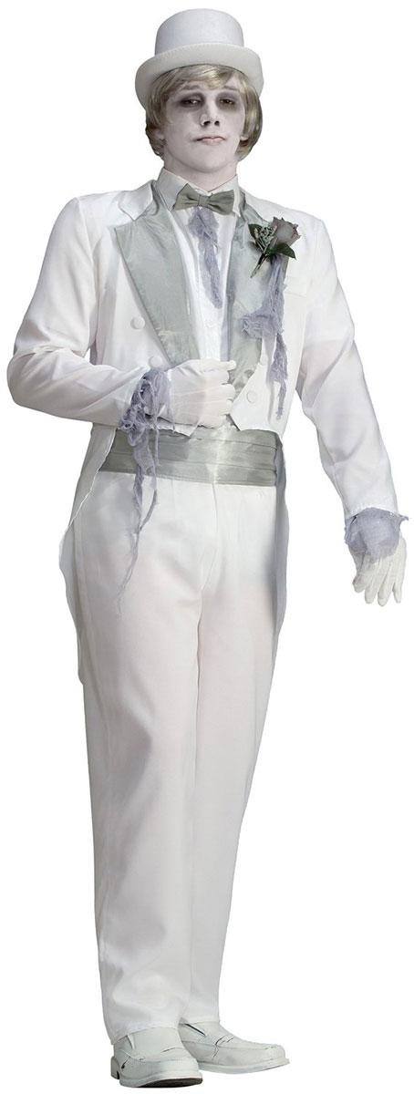 衣装 お化け 幽霊 ホラー 大人 男性 コスプレ コスチューム 白 ブルーム スーツ 花婿 紳士 ヴィクトリア朝