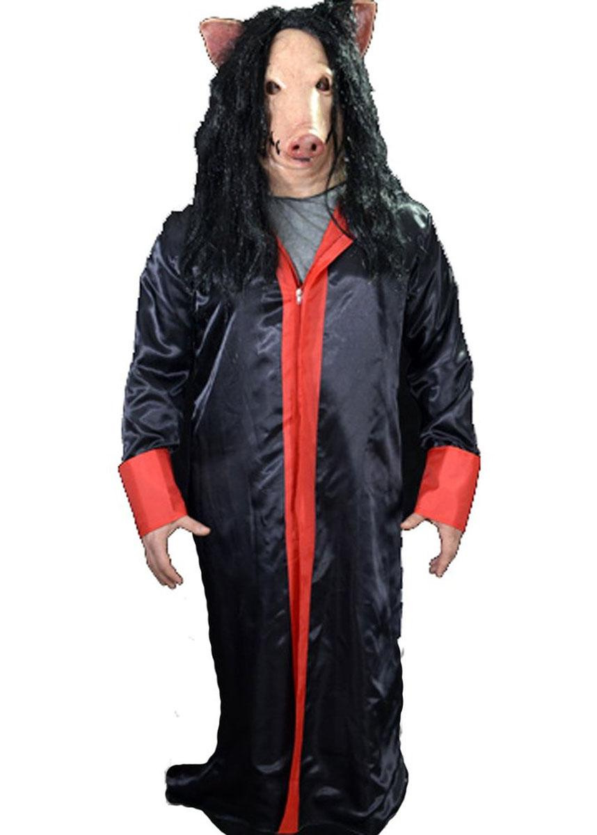 SAW ソウ ジグソウ コスプレ コスチューム 豚 ローブ 衣装 大人 ハロウィン 仮装 ホラー お化け 恐怖 怖い