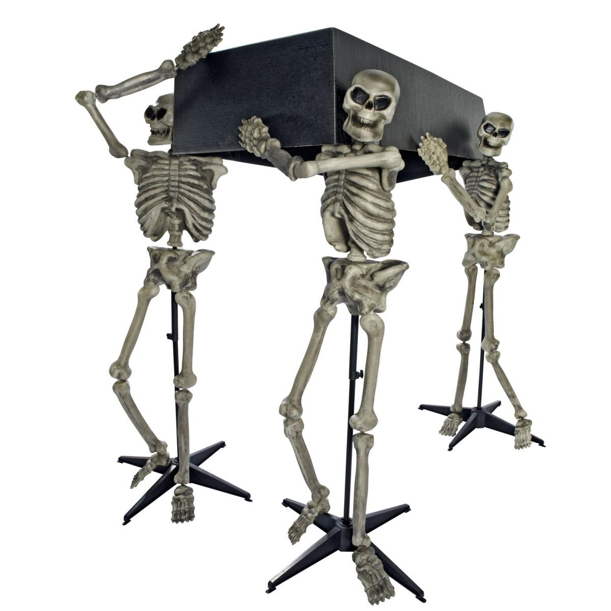 skeleton model skeleton skeleton three set halloween decorations decoration decorations fear horror haunted mansion toy coffin carrying skeleton set - Halloween Decorations Skeleton
